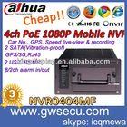 h264 security cctv network 3g mobile dvr wcdma gps vehicle dahua nvr NVR0404MF-G