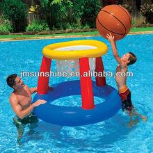 water pool kids play custom pvc inflatable pool basketball hoop