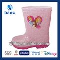 Disney kızlar yüksek- topuklu moda pembe taban yağmur çizmeleri