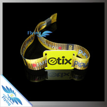 Top selling Plastic quick lock for textile festival Fest Style fashion wristbands