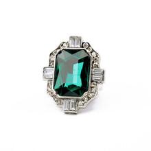 Wholesale Fashion Shourouk Alloy Diamond Emerald Ring R10005