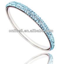 wholesale stainless steel bangles disco ball woven cord bracelet