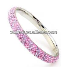 stainless steel bracelet crystal ball woven cord bracelet