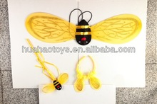 High Quality Golden Angel Wing And Wand Set With Cute Decoration