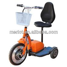 folding three wheel electric vehicle with seat