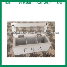 eco friendly wooden tea chest with glass lid