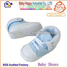 china blue canvas newborn handmade wholesale soft sole baby shoes