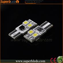 super white light bulb 12v Canbus t10 w5w 5050 4 smd car led light bar
