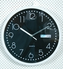 "12"" round shape auto flip calendar wall clock"