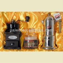 Jiale moka coffee maker/expresso coffee maker gift set