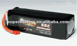 (SR-LP5000) Lithium ion 6S 22.2V 5000mAh li-polymer 55C li ion Lithium Polymer rc LiPo rechargeable Battery pack