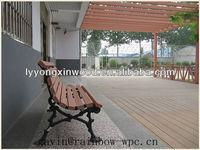 Eco-friendly waterproof wood plastic composite garden bench