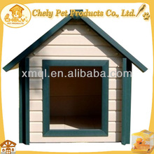 Colorful wooden dog house with lean-to roof Pet Cages, Carriers & Houses