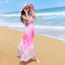 C81092A NEWS!!!! can change labels Bohemian beach gradient chiffon dress