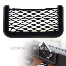 14.5X8cm Adhesive Sun Visor Car Organizer Pocket Net Bag