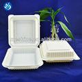 pulgadas 8 desechables biodegradables de almidón de maíz de contenedores de alimentos para la comida rápida