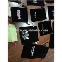 fashion high quality small velvet drawing black gift bags