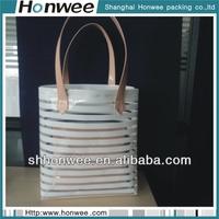 2014 fashional soft eva customized clear plastic tote bags