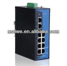 10 Ports 10/100/1000M managed gigabit fiber optics switch