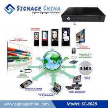 SC-8028 3G Network Digital Signage Advertising Media 2014 best selling tv box music box mp4 player