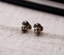 Fashion earring supplier ,New York black skull earring