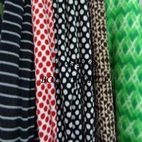Fashion round dot printed micro polar fleece fabrics