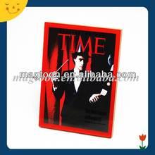 Custom cool design acrylic fridge magnet photo frame