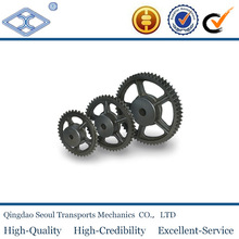 """DIN standard industrial double casting iron roller chain sprockets 5/8""""x3/8"""" for 10B-2"""