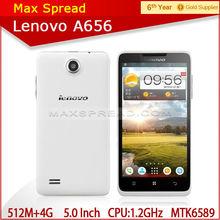 "New 5.0"" quad core mtk6589 512MB /4GB dual sim 5.0MP 3G Lenovo A656 modern handphone"
