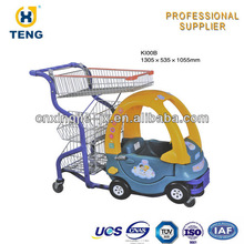 supermarket child shopping trolley/cart with toy car
