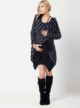 Draping Front Maternity Cardigan in Merino Wool