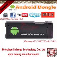 Mini PC MK802 Google Android 4.0 TV Box WIFI 4G HD IPTV Player By Salange