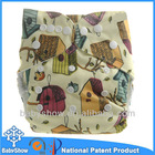 PUL print baby show brand waterproof reusable baby diapers with bamboo insert, cloth nappy hotsale colors in stock