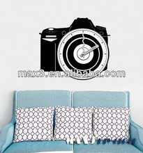 Creative camera personality wall decal clock for Sofa background wall