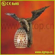 Newest mosaic glass eagle wall lamp