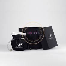 Fancy gift boxes in black