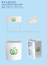 luxury sales promotion table, promotion stander , ABS promotion tables