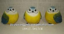 La resina de promoción lindo de grasa cifras de aves, de color amarillo ave hermosa