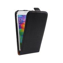 Simple Design Mobile Phone Vertical Flip Leather Case for S5 /i9600