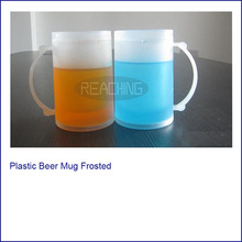 2014 Best Selling Plastic Beer Mug Frosted