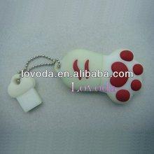 16GB Novelty Cartoon Cute Blue Cat/Bear Paws USB Flash Key Pen Drive Memory Stick Gift,1 tb usb flash drive LFN-206