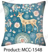 beautiful chrismas deer printed polyester/cotton printed cushion covers christmas cushion cover