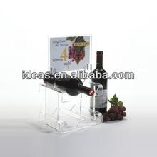 Wholesale Transparent Acrylic Wine Holder /Acrylic Wine Bottle Holder