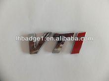 3D ABS chrome letters car badge,ABS numbers car sticker,custom plastic car badge emblem