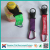 Factory eco-friendly carabiner water bottle holder lanyard
