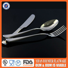 Elegant stainless steel dinnerware set canton fair hot products for hotel or restaurant
