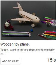 Wooden toy plane.