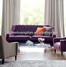 HDS895-1 american living room furniture purple transformer sofa
