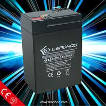 security systems sealed lead acid battery 6v4.5ah