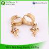 2014 alibaba china supplier stainless steel jewelry casting gold plated zircon earringsfashion engagement earrings